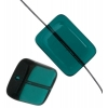 Glass Bead Bricks 20x15mm Blue Zircon - Strung